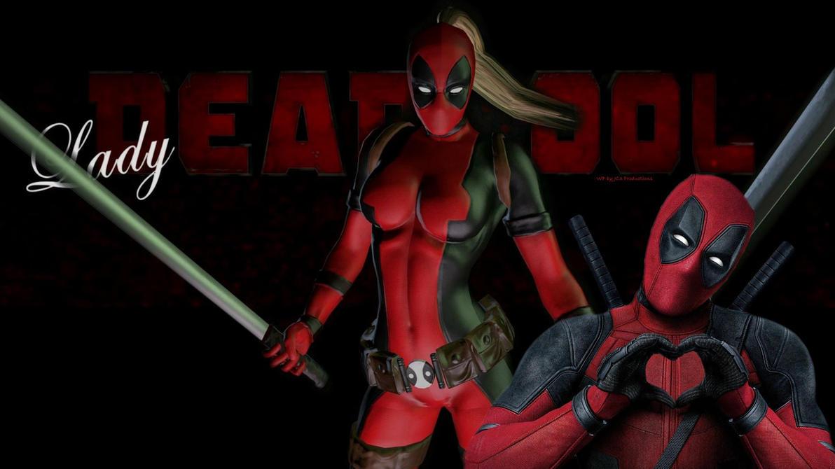 Lady Deadpool 9f  by Curtdawg53
