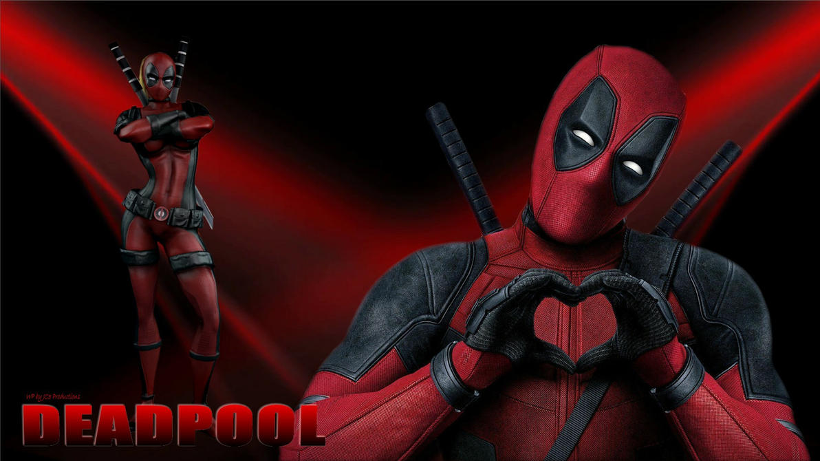 Lady Deadpool Wallpaper - In Love 2 by Curtdawg53