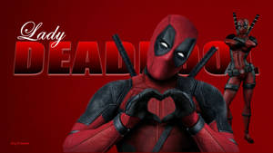 Lady Deadpool Wallpaper - In Love 5 by Curtdawg53