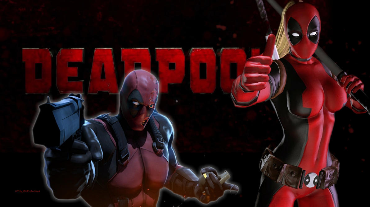 Lady Deadpool vs Deadpool by Curtdawg53