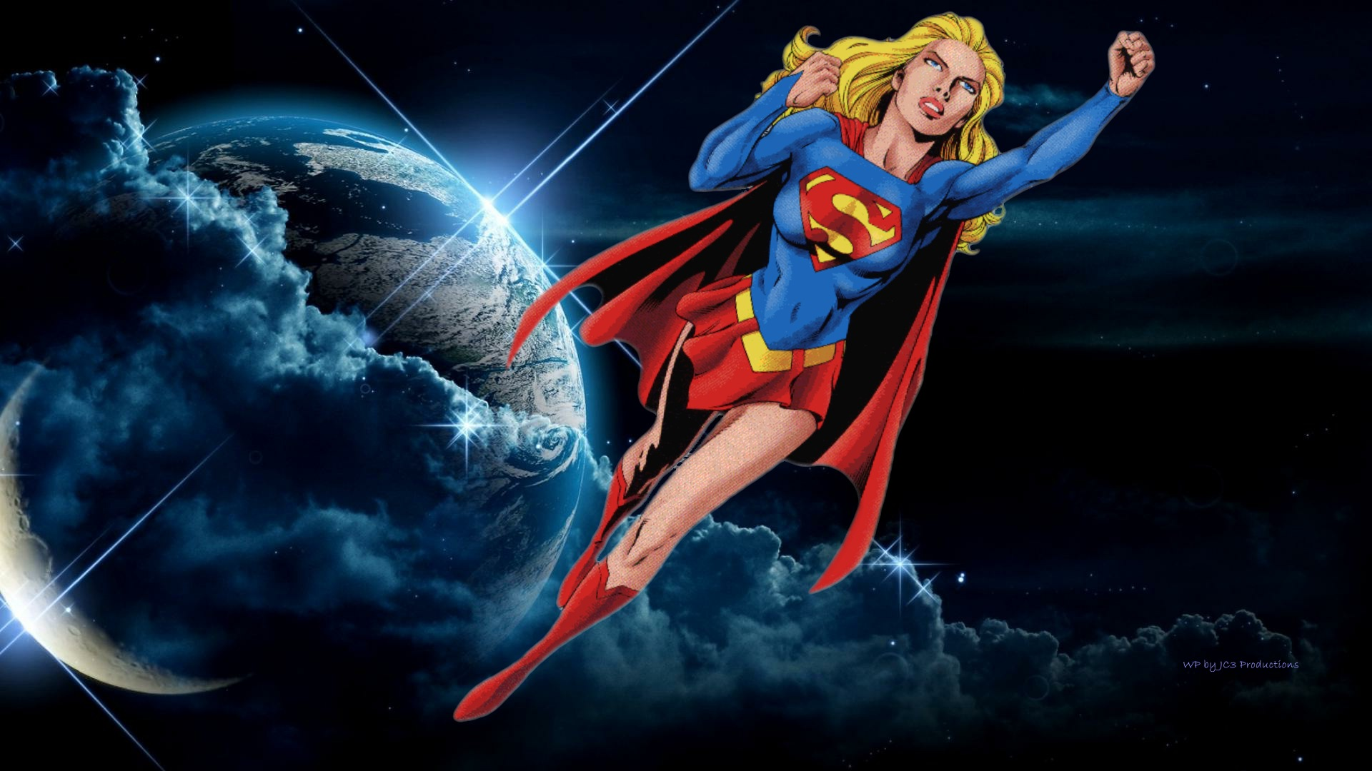 Supergirl Wallpaper - In Space Again by Curtdawg53