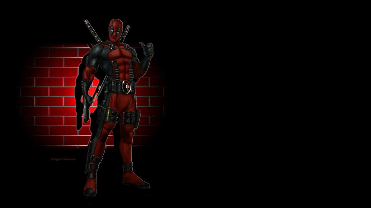 Deadpool Wallpaper - Brick Wall by Curtdawg53