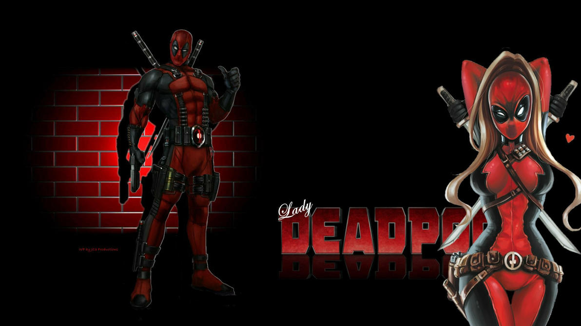 Lady Deadpool Wallpaper Brick Wall 2 by Curtdawg53