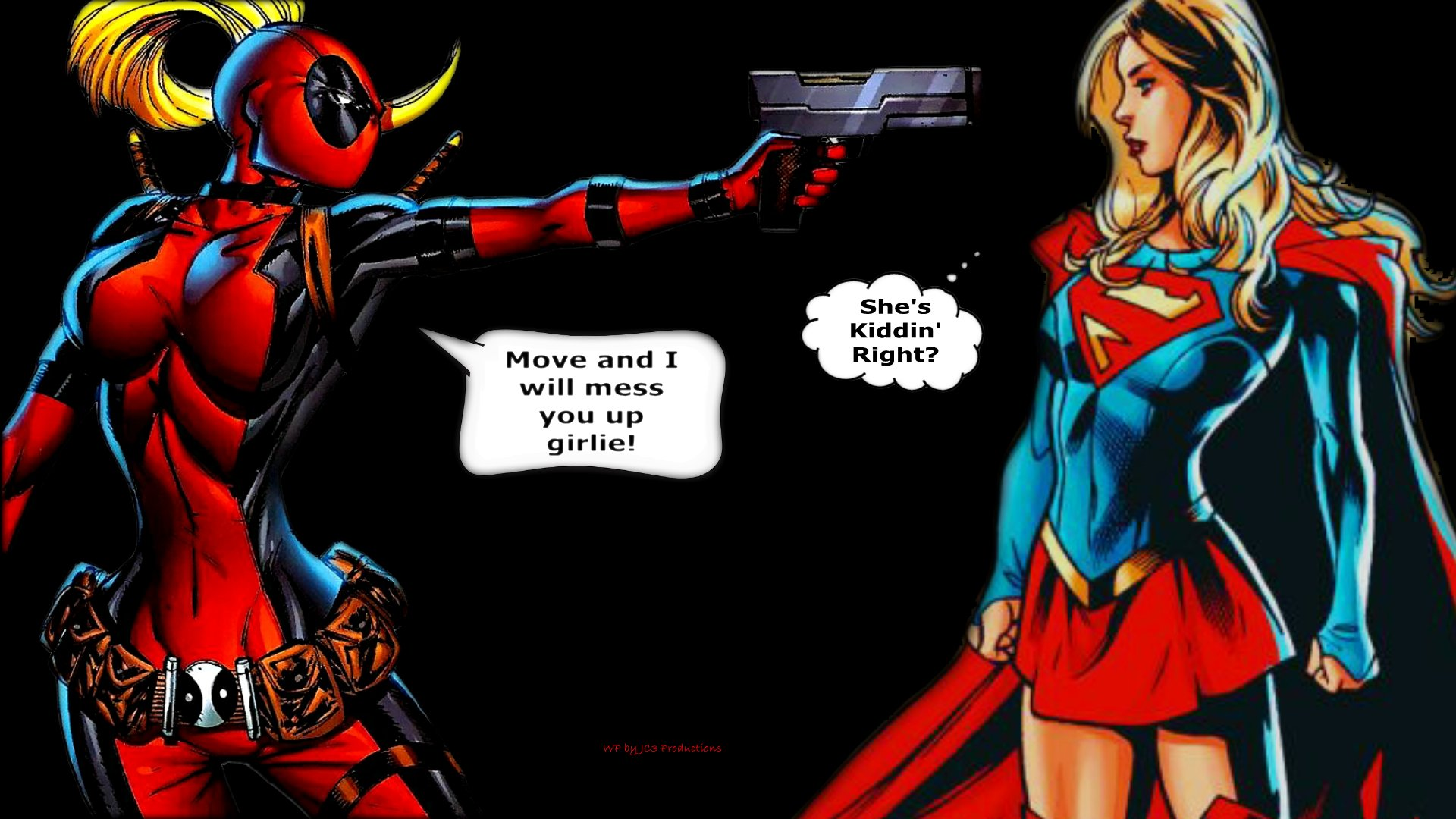 Lady Deadpool Wallpaper - Got the Drop 2a by Curtdawg53