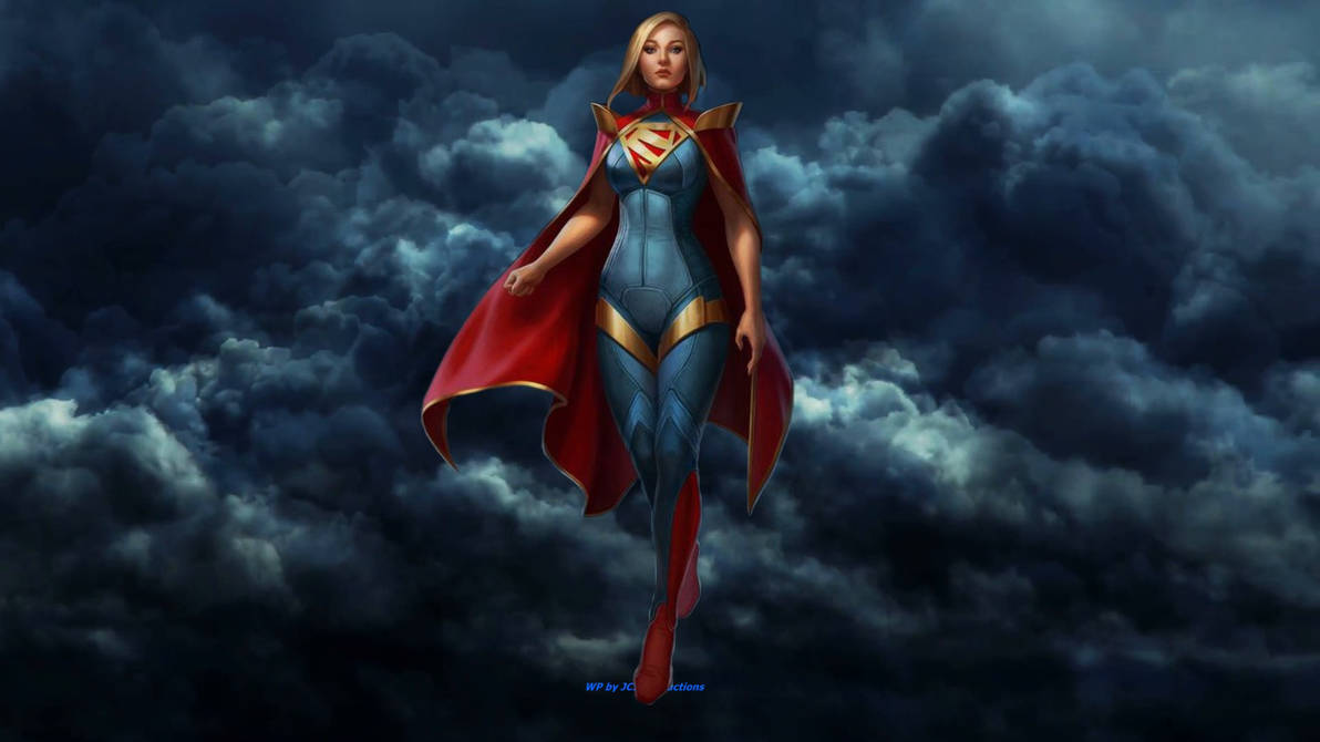 Supergirl Wallpaper - In The Clouds by Curtdawg53 ...