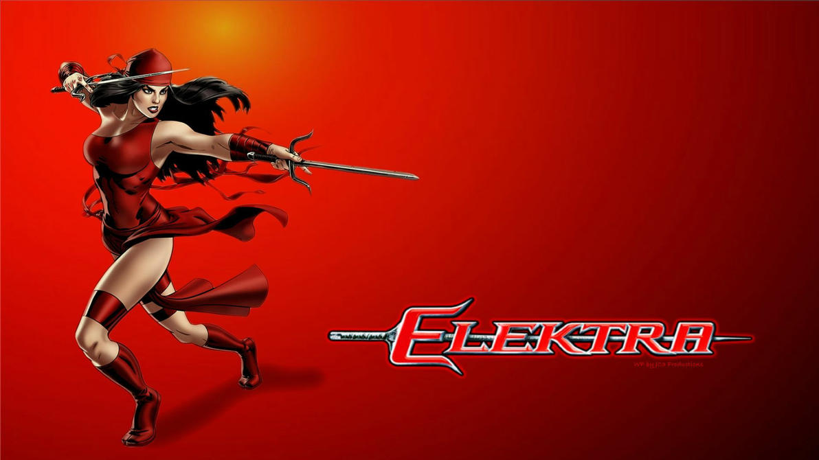 Elektra Wallpaper - Defending by Curtdawg53