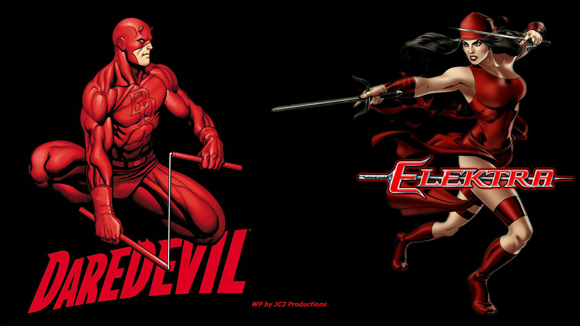 Daredevil Wallpaper - Elektra Together by Curtdawg53