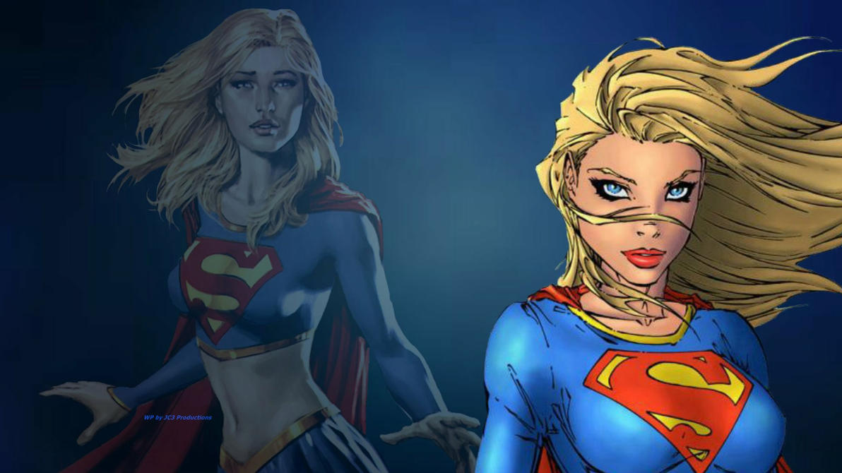 Supergirl Wallpaper In Front and Back by Curtdawg53