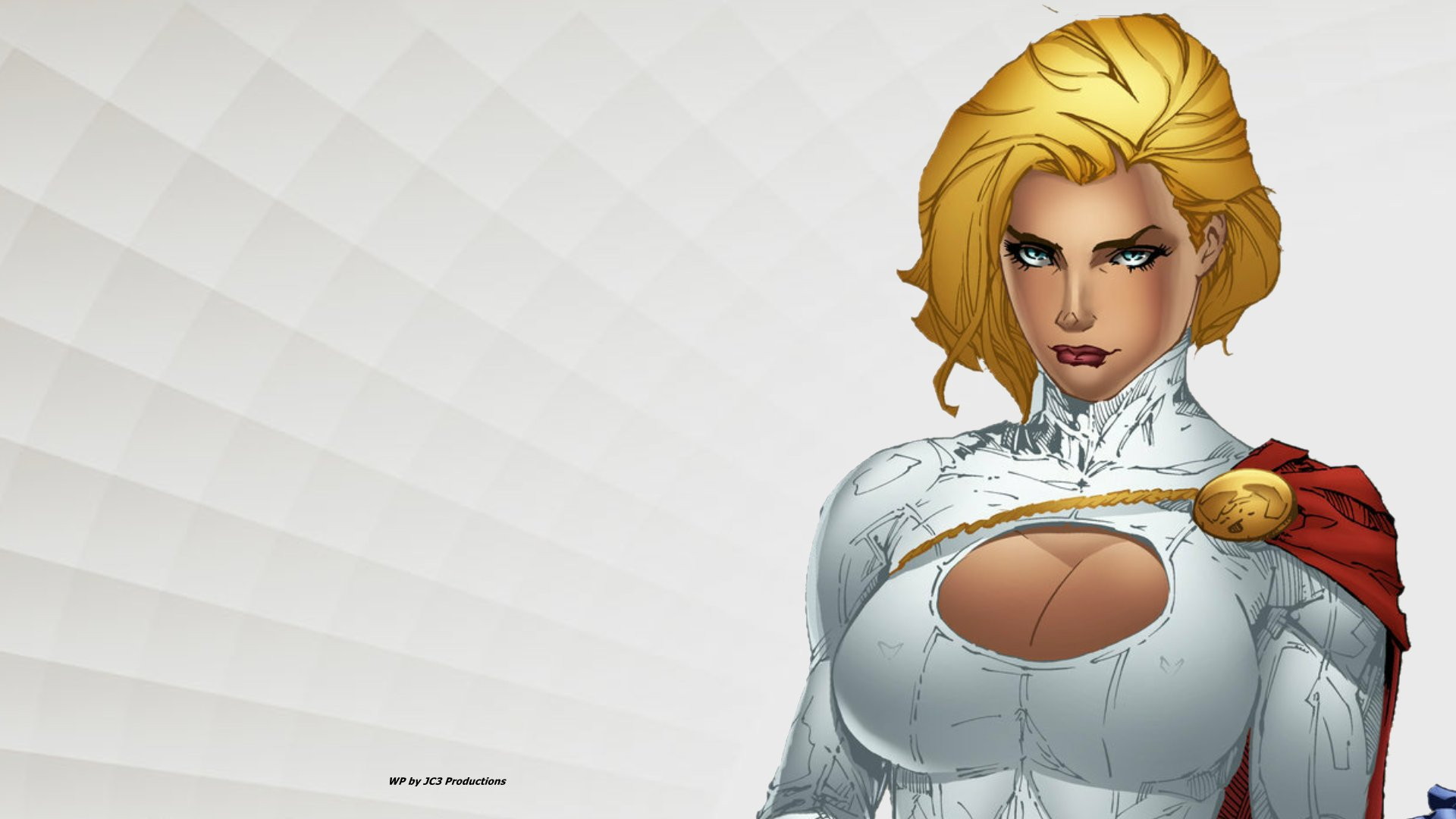 Power Girl Wallpaper - Up Close by Curtdawg53