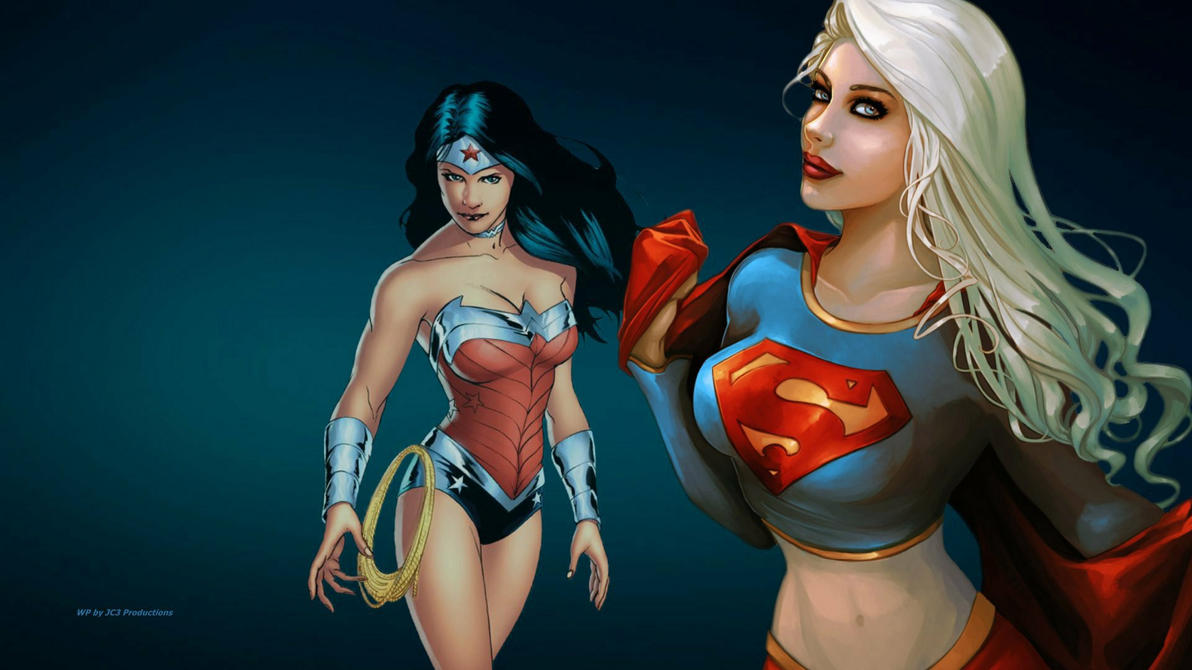 Supergirl and Wonder Woman wallpaper by Curtdawg53