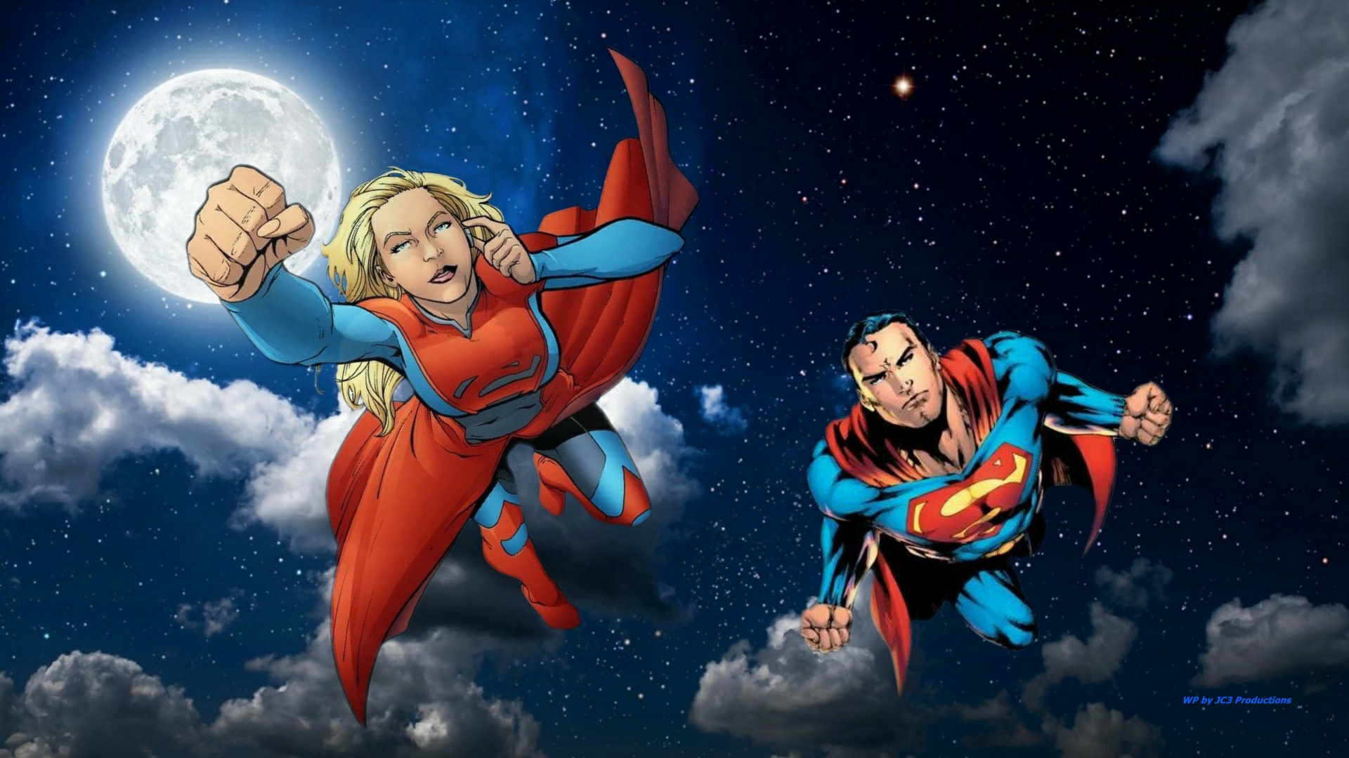 Supergirl Wallpaper - On Patrol by Curtdawg53