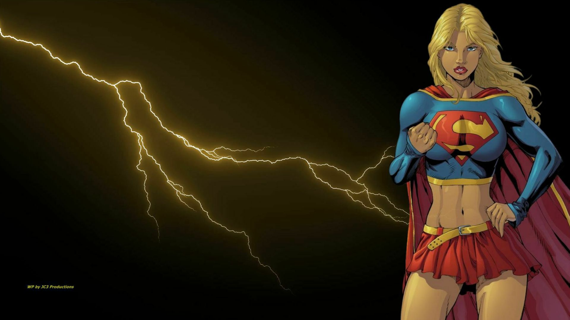 Supergirl Wallpaper And Lightning  1 by Curtdawg53