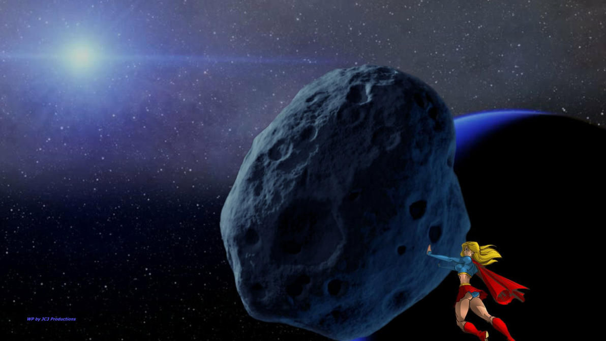 Supergirl Wallpaper - Moves An Asteroid by Curtdawg53