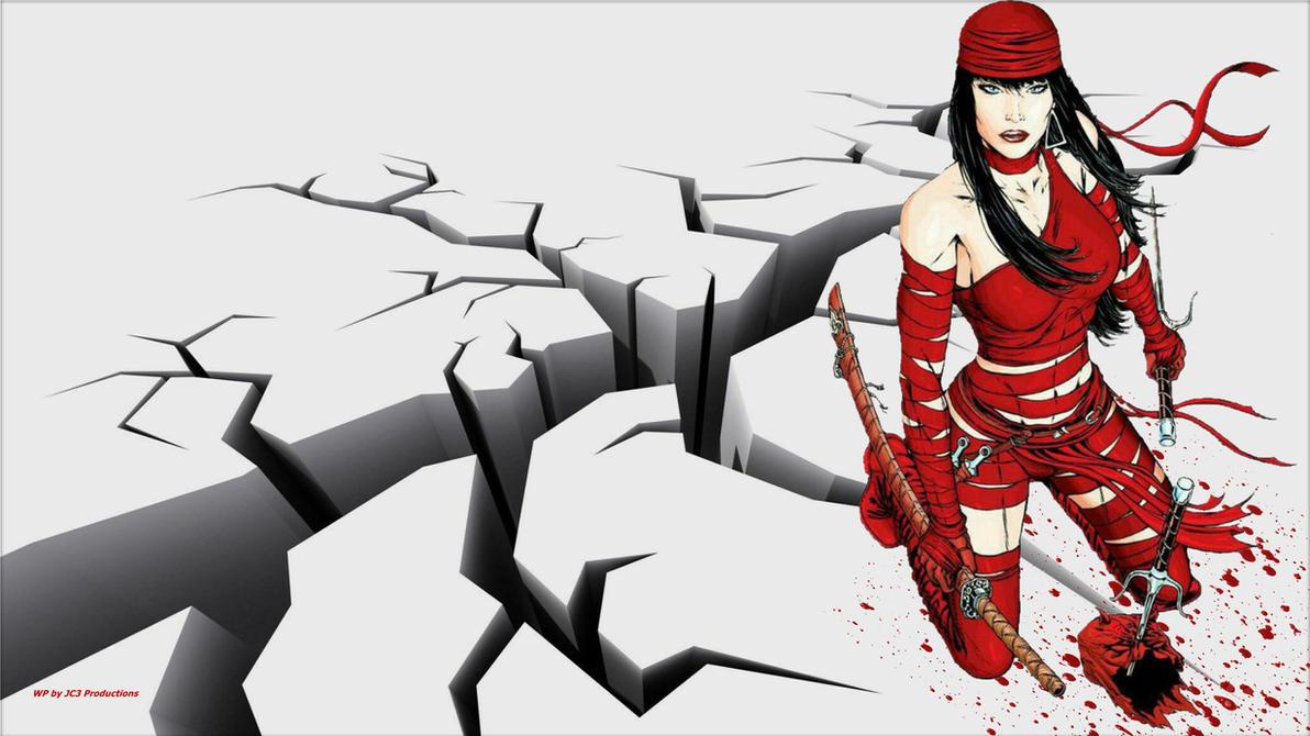 Elektra Wallpaper - Earthquake by Curtdawg53