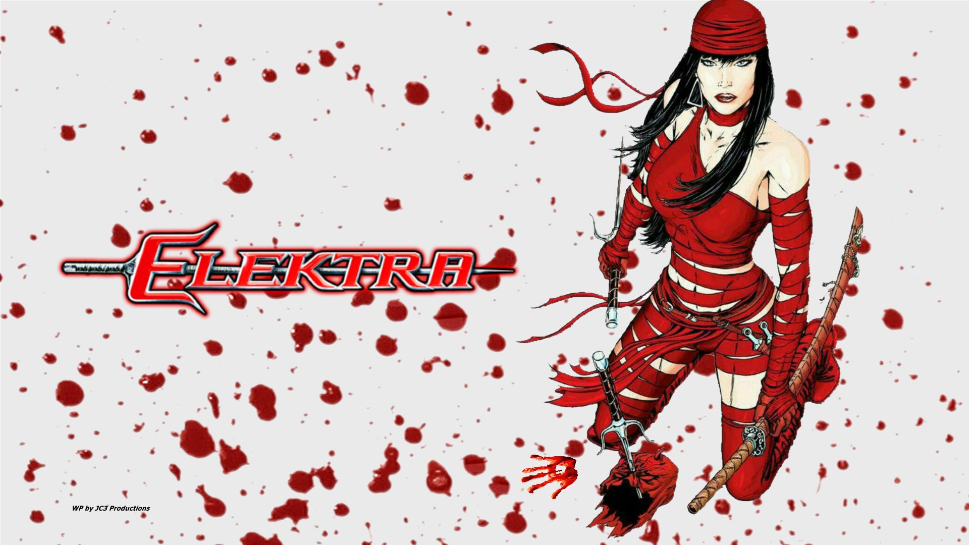 Elektra vs Daredevil wallpaper by Curtdawg53