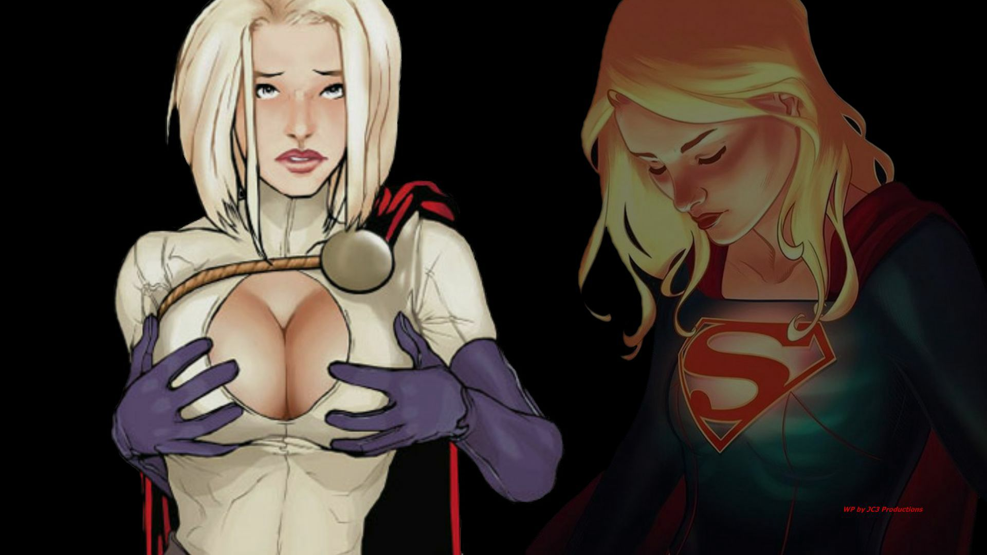 Power Girl vs Supergirl 1 wallpaper by Curtdawg53