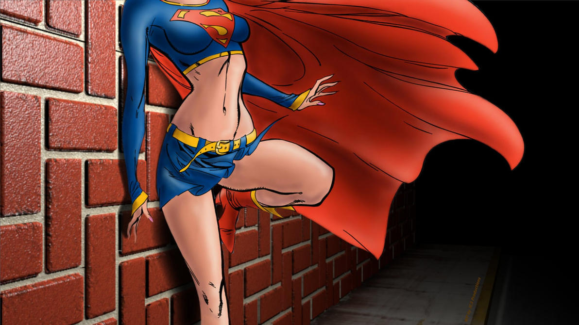 Supergirl Wallpaper - Back Against The Wall by Curtdawg53