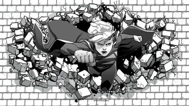 Supergirl Wallpaper Hitting The Bricks