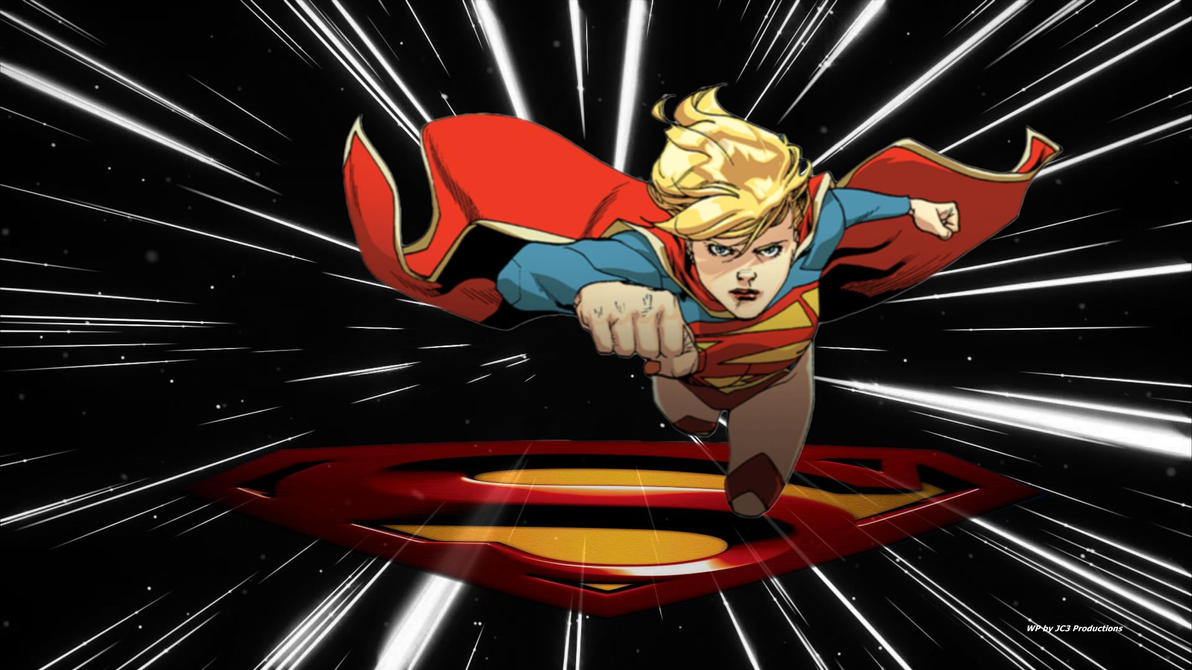 Supergirl Wallpaper Light Speed by Curtdawg53