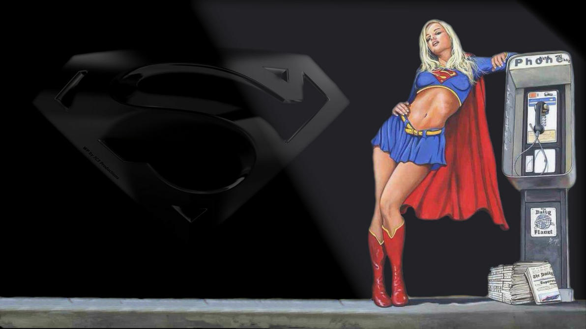 Supergirl Wallpaper Under A Street Light by Curtdawg53