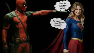 Deadpool Wallpaper - Supergirl at Gun Point 2