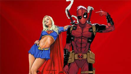 Deadpool Wallpaper - Supergirl Dilemma