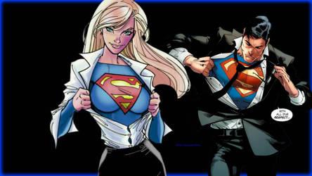 Supergirl or Superman Wallpaper