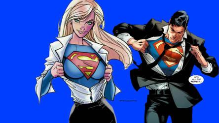 Supergirl or Superman Wallpaper 2