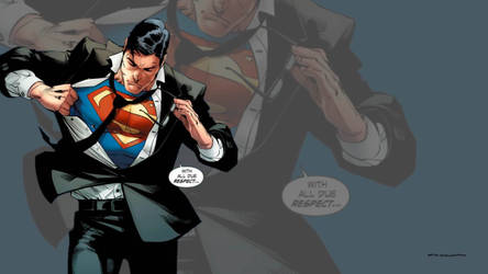 Superman Getting Ready For Action Wallpaper