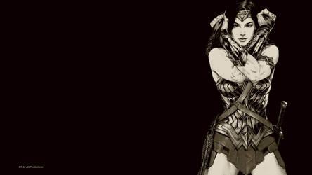 Wonder Woman In Black  White 1