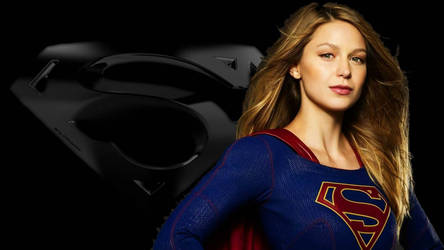 Supergirl and Icon Wallpaper 3