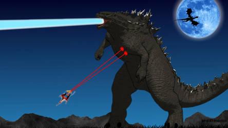 Supergirl vs Godzilla