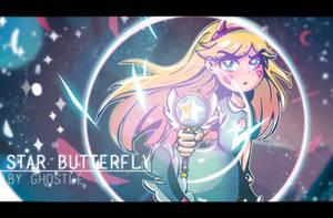 STAR BUTTERFLY by GhostleArt