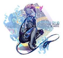 MORPHO BLUE Original Art by GhostleArt