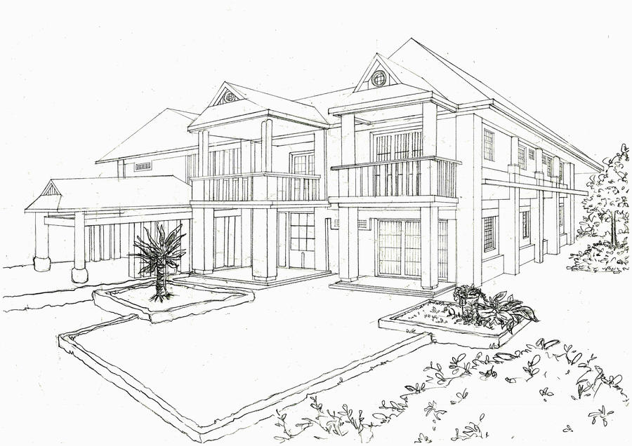 Modern Mansion Coloring Pages Coloring Pages