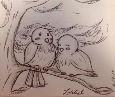 Cute Birb doodle by larlis1