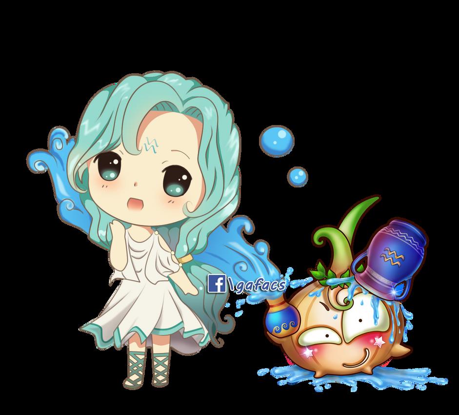 Chibi Aquarius by gafacs on DeviantArt  Anime Aquarius