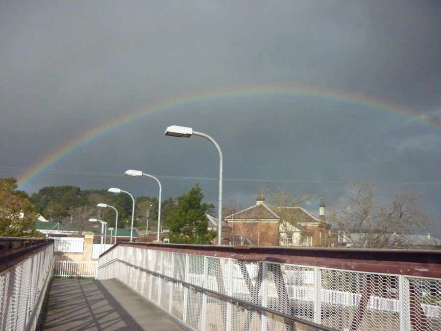 Rainbow from bridge by Rizzec