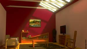 living room 1 blender 3D