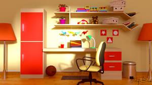 3D kids room