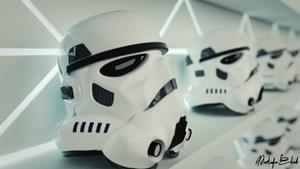 Stromtroopers row of helmets - 3D