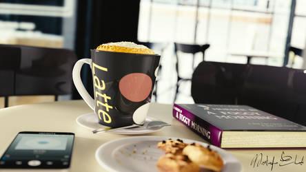Breakfast in the cafe - 3D
