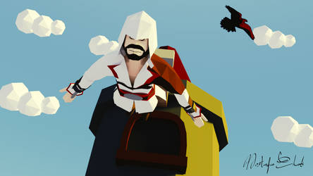 Low Poly The Leap of faith - Assassin's Creed