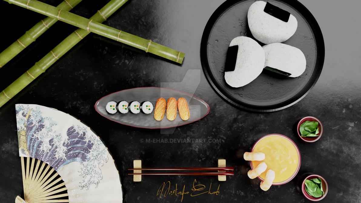 The Japanese dish by M-Ehab