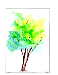 Watercolor tree. by goodwifecole