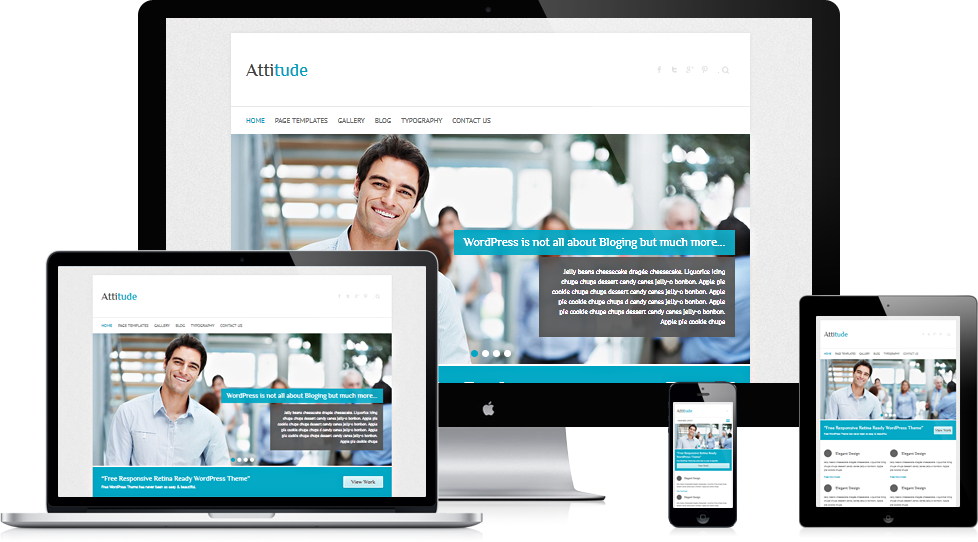 Attitude: Free Responsive HiDPI WordPress Theme by gps816