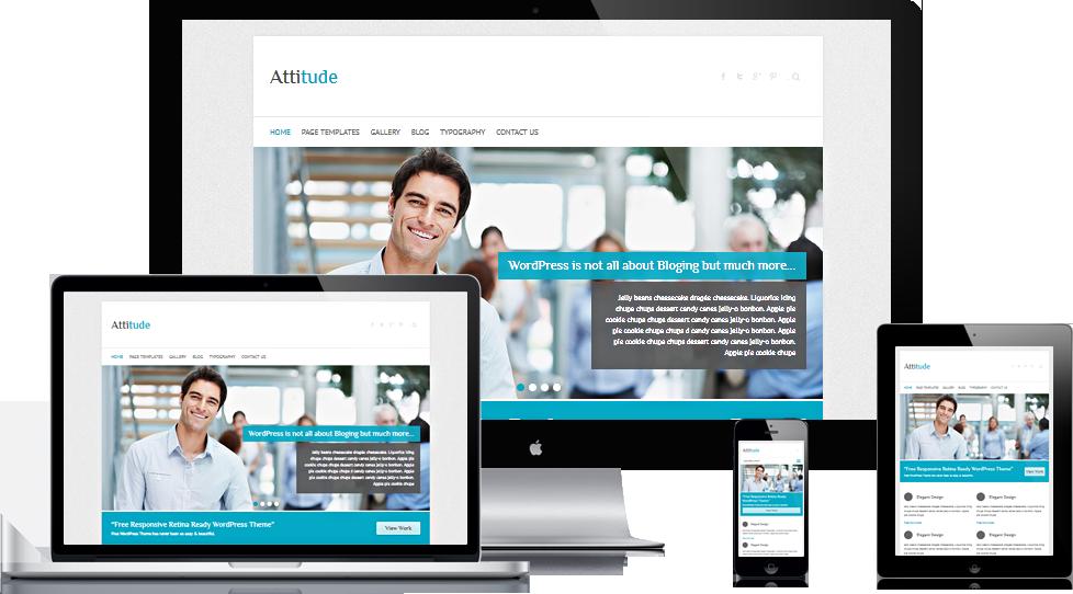 Attitude: Free Responsive HiDPI WordPress Theme by gps816
