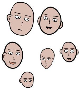 Saitama faces