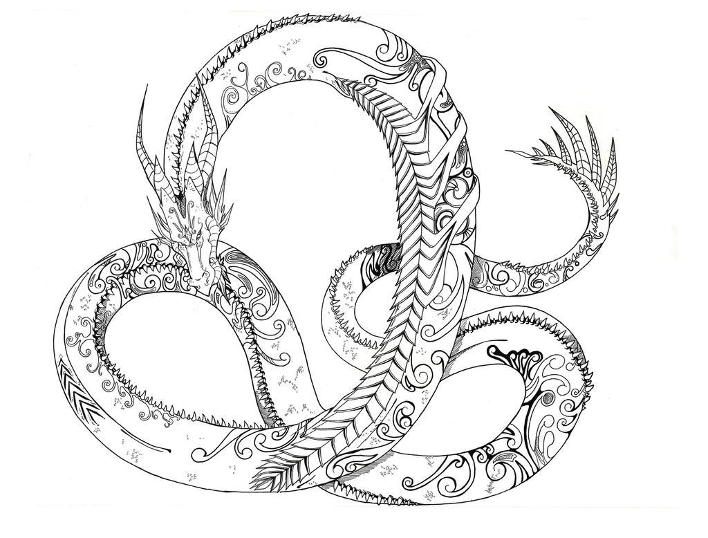 Dragon Line Art By Soshasil12 Deviantart Dibujos Para Colorear
