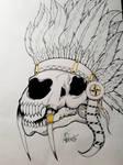 Sabertooth Headdress by AdamDee27
